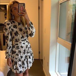 Zara white floral mini dress